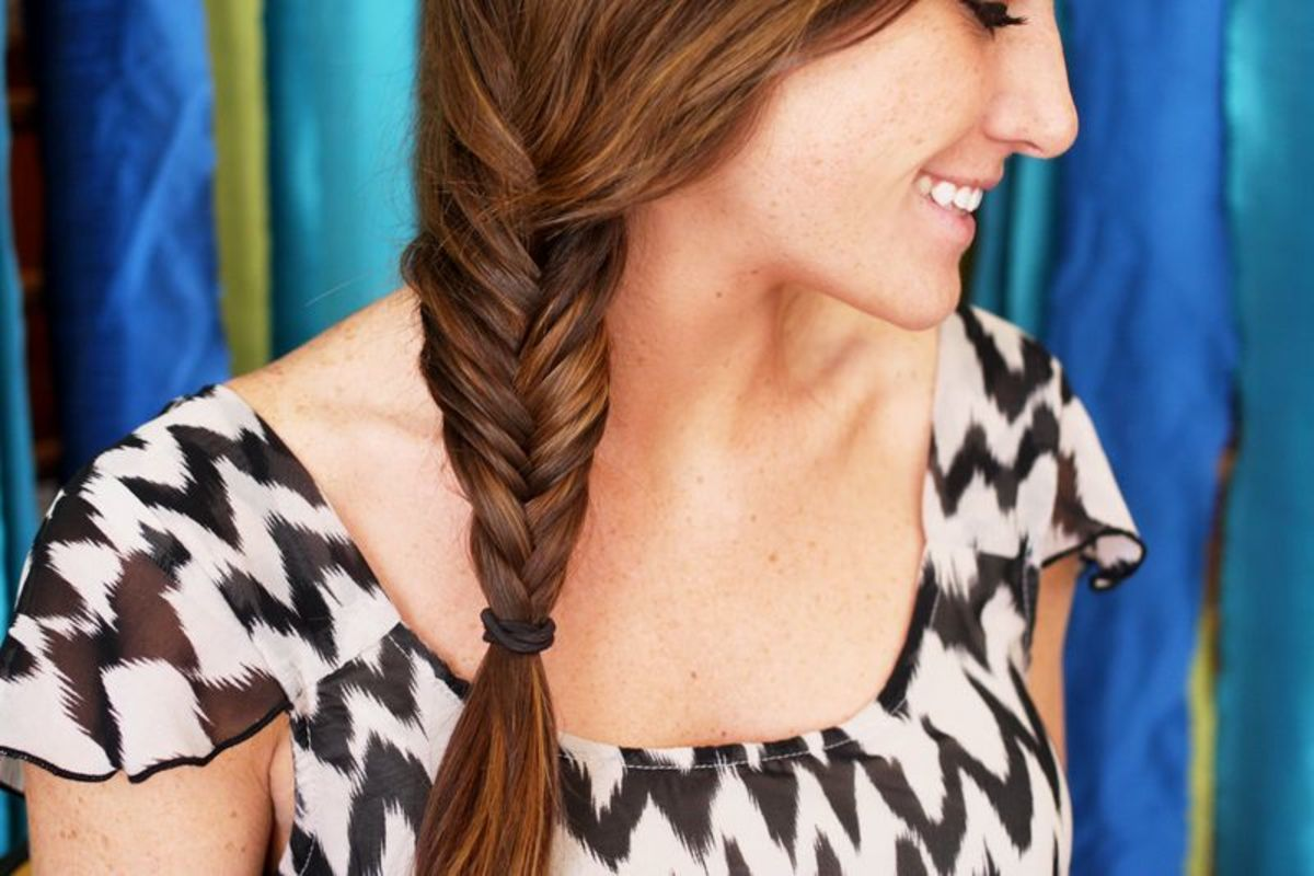 fishtail braid via A Beautiful Mess