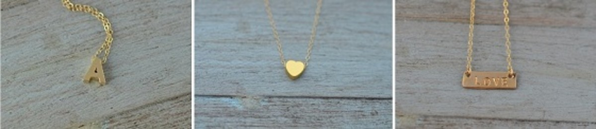 Something About Silver Hand Stamped Necklaces