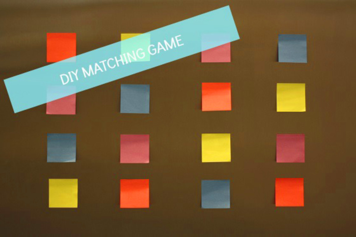 DIY Post It Notes Matching Game