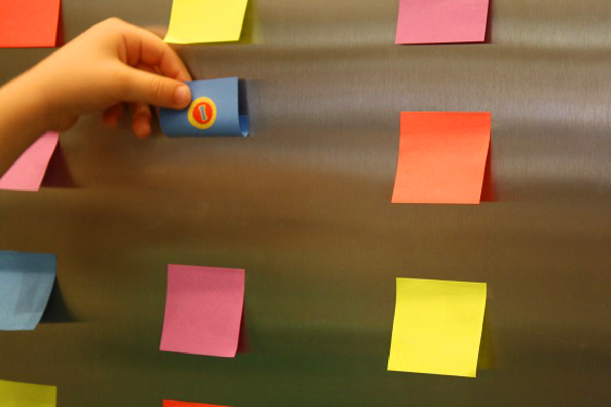 DIY Post It Notes Memory Game2