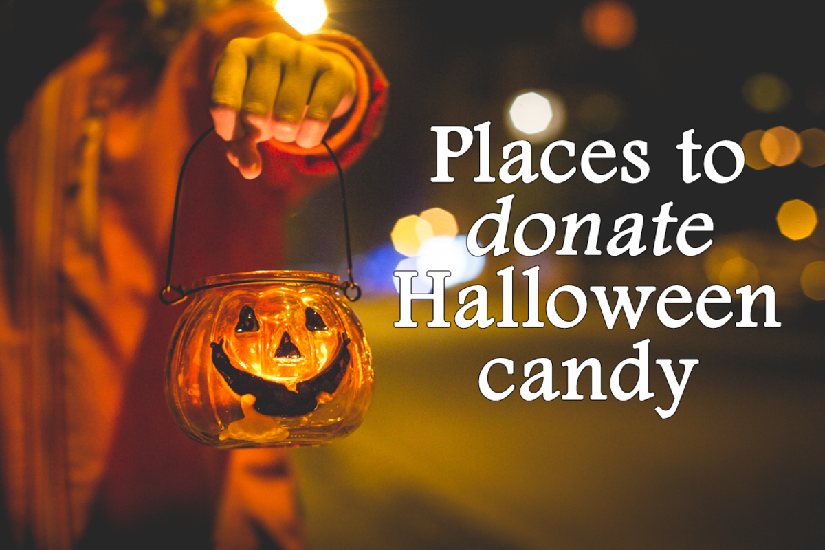 places to donate Halloween candy