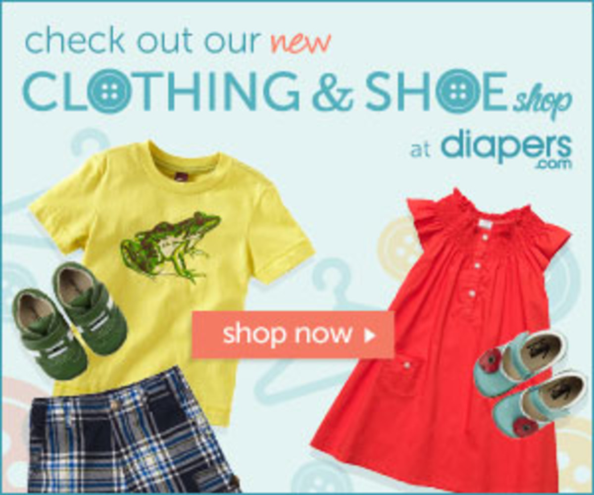 Diapers.com Launches Clothing & Shoe Shop