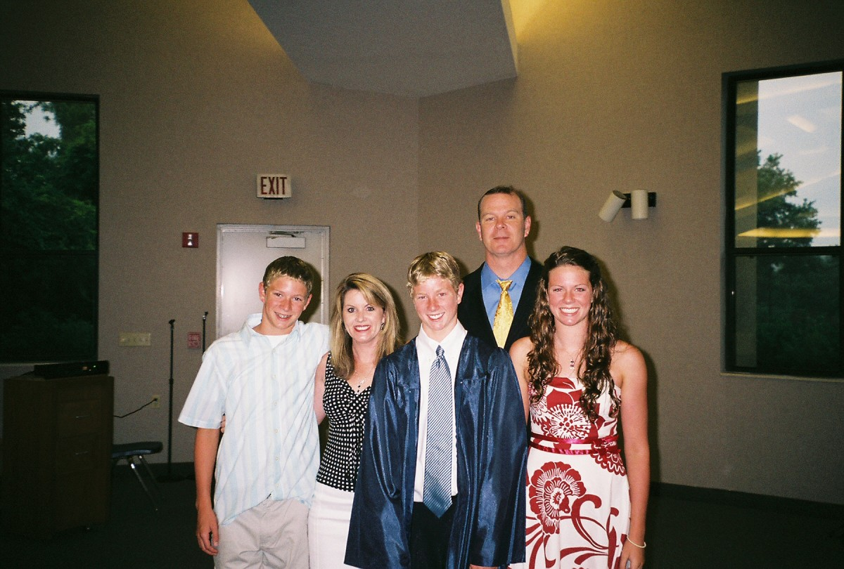 The Murphy family, from left to right: Ryan, age 11, Katy, Patrick, Pat, and Shannon