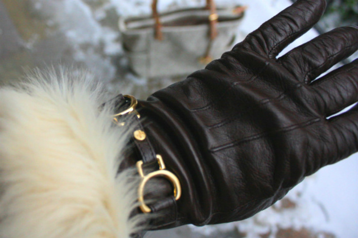 Cole Haan Leather Gloves