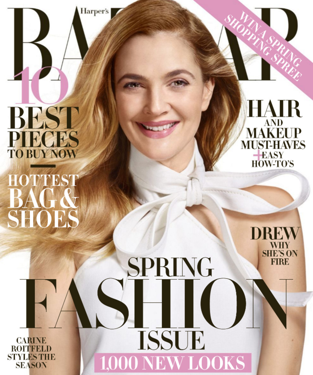 Harper's Bazaar - Drew Cover - March 2016