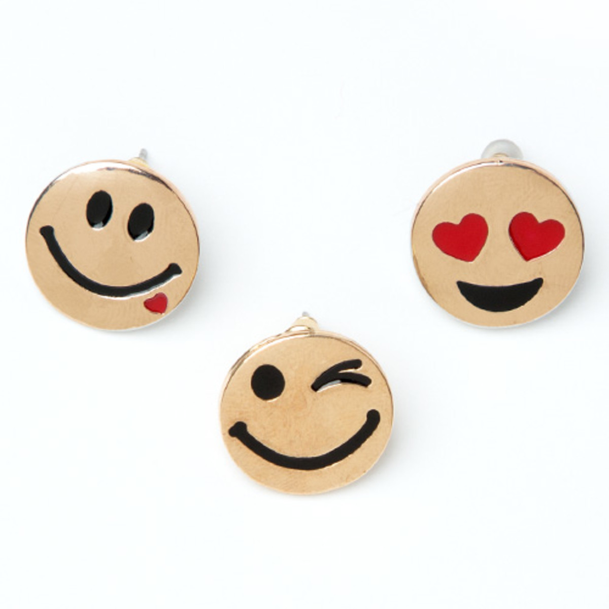 awesome stocking stuffers Little Miss Matched emoji earrings