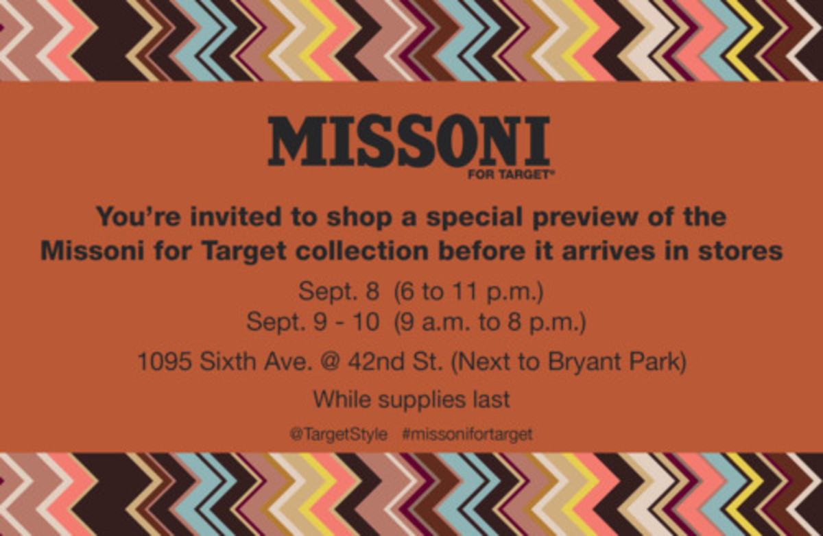 Missoni Fashion's Night Out