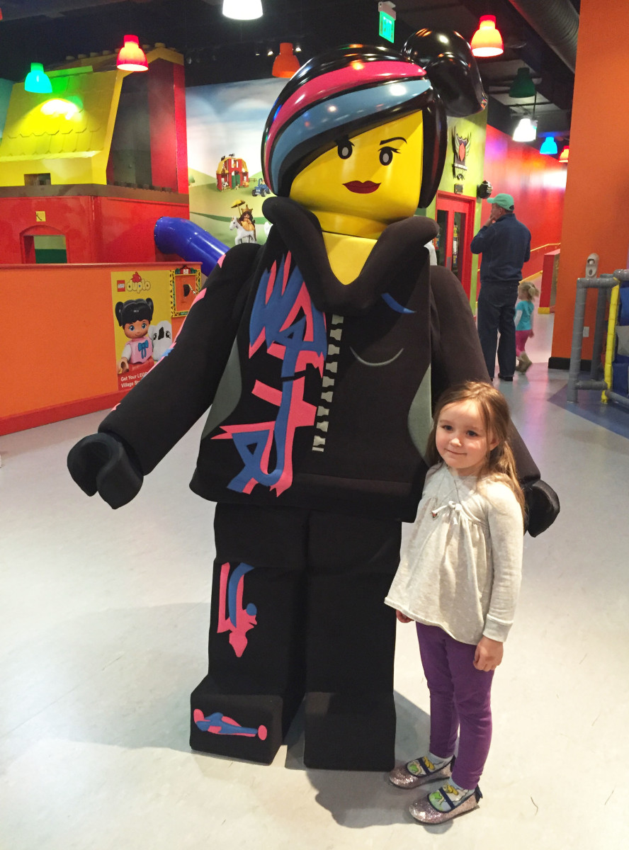 Wyldstyle at the LEGOLAND Discovery Center Westchester 4D movie premiere