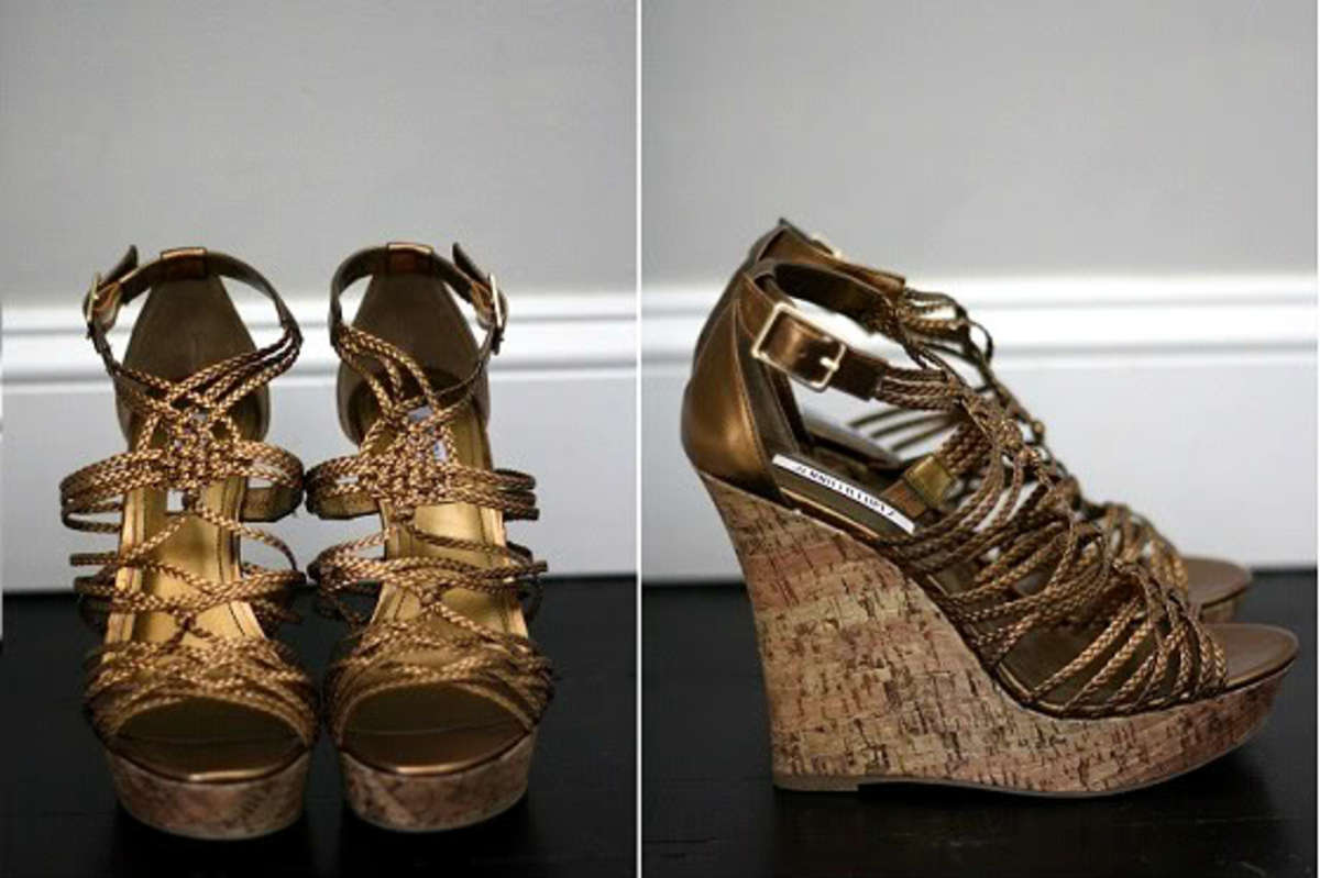 Jennifer Lopez Platform Wedge Sandals
