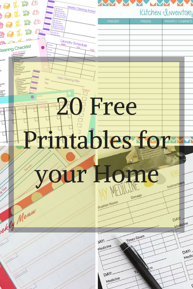 20 Free Printables for your Home