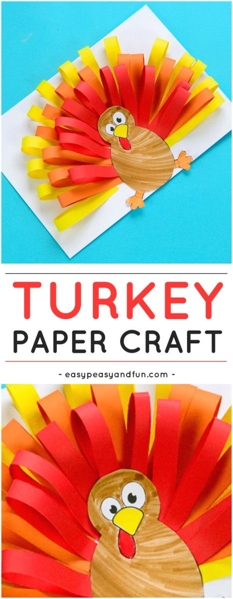 Paper Turkey Craft from Easy Peasy and Fun
