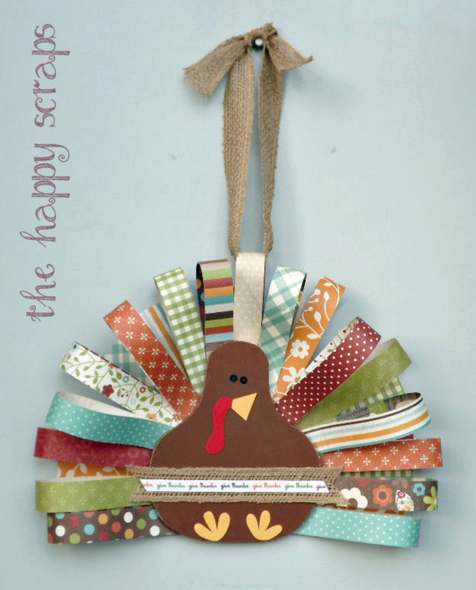 Paper Feather Turkey from The Happy Scraps