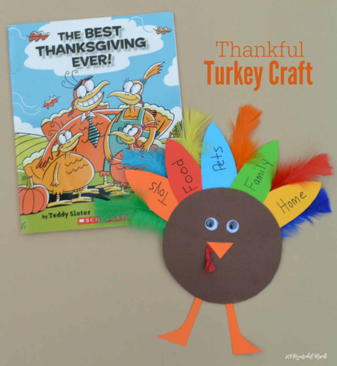 Thankful Turkey Craft from The Resourceful Mama