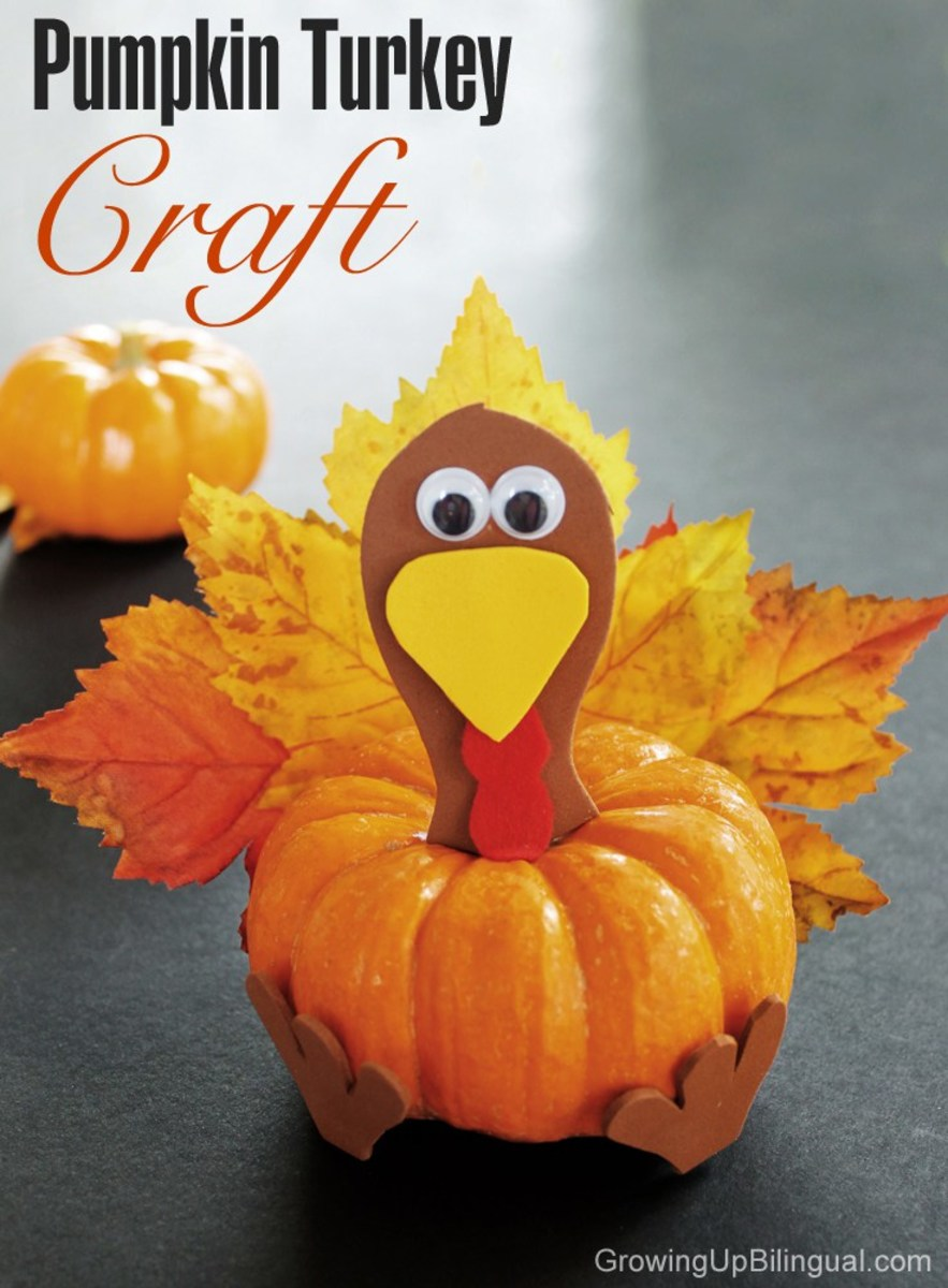 Pumpkin Turkey Craft from Growing up Bilingual
