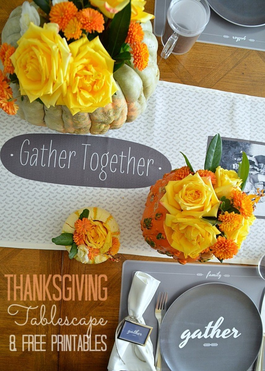 Thanksgiving Tablescape from Tatertots and Jello