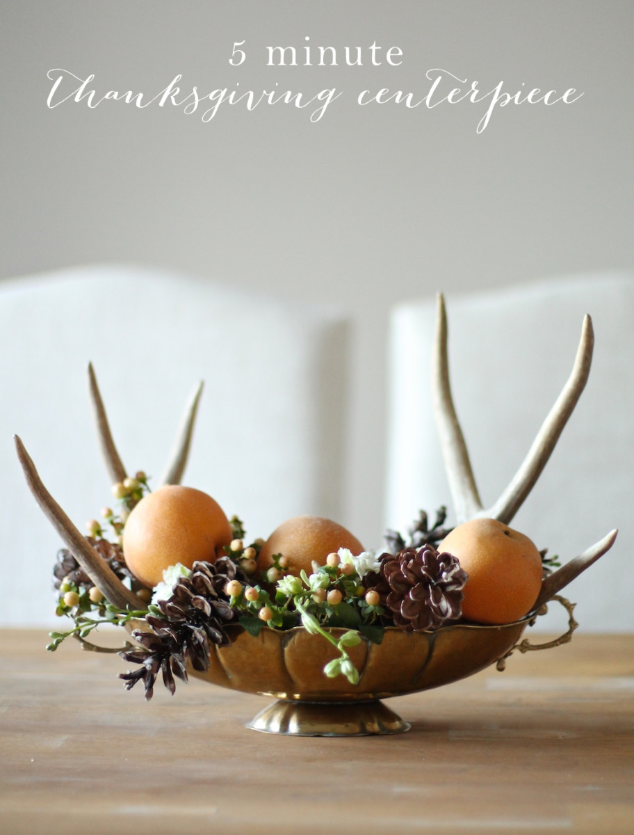 Five Minute Thanksgiving Centerpiece from Julie Blanner