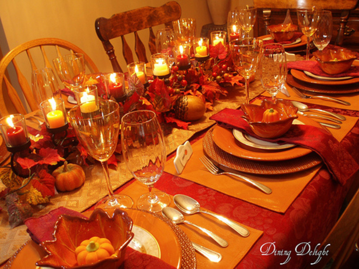 Fall Dinner Tablescape from Dining Delight