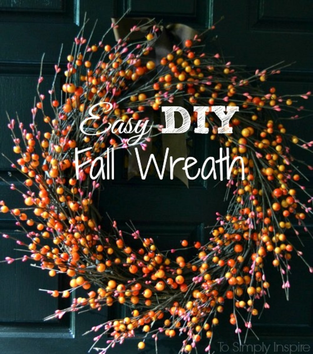 Easy Fall Wreath from To Simply Inspire