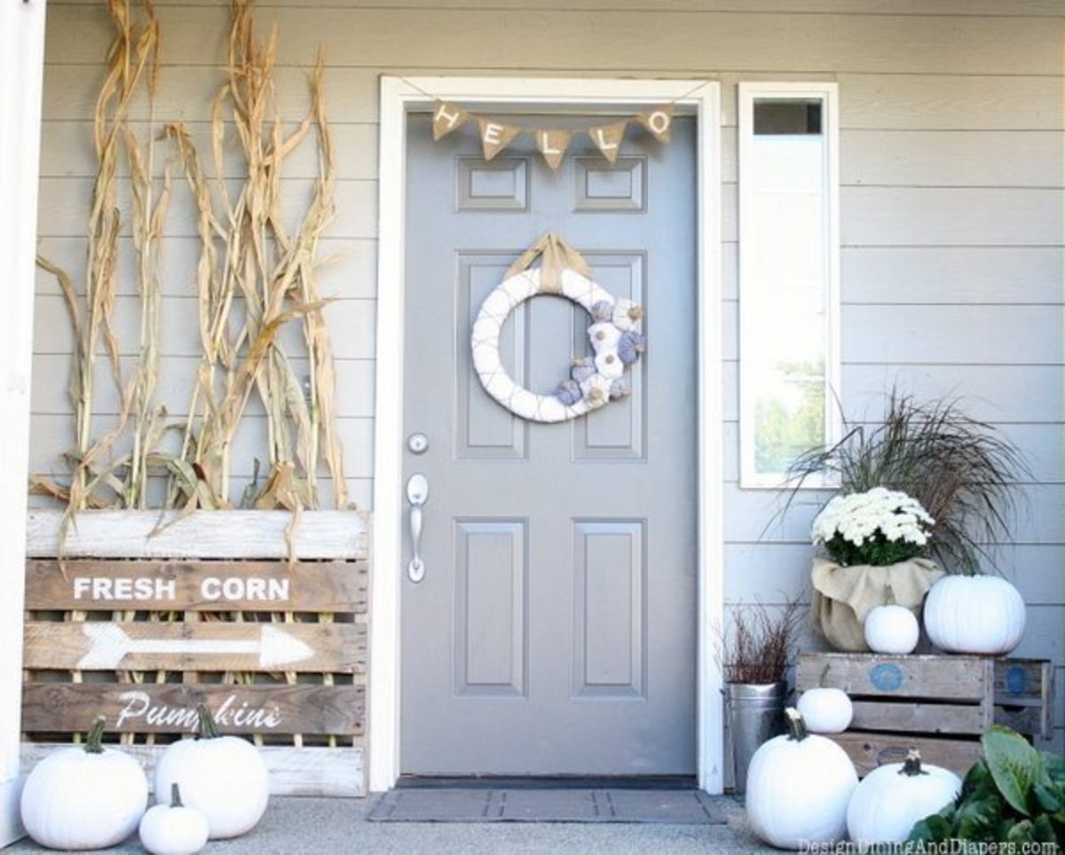 Neutral Fall Porch from Taryn Whiteaker