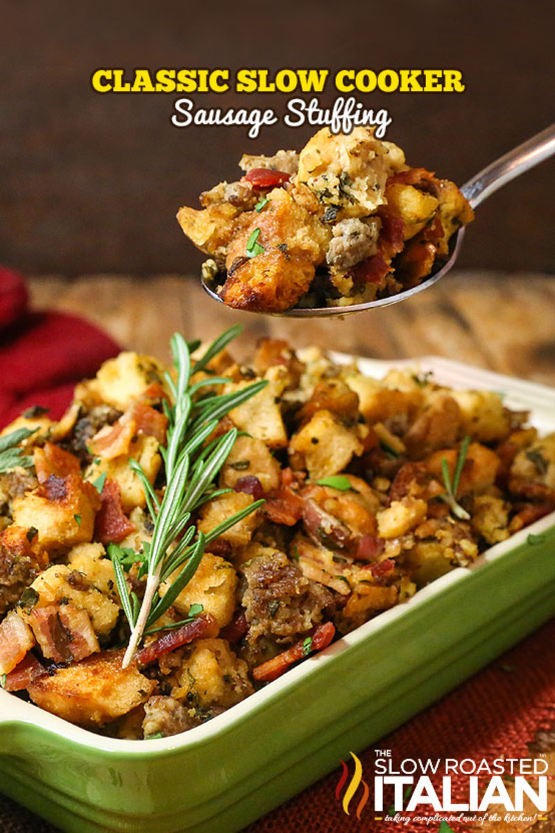Classic Slow Cooker Stuffing from The Slow Roasted Italian