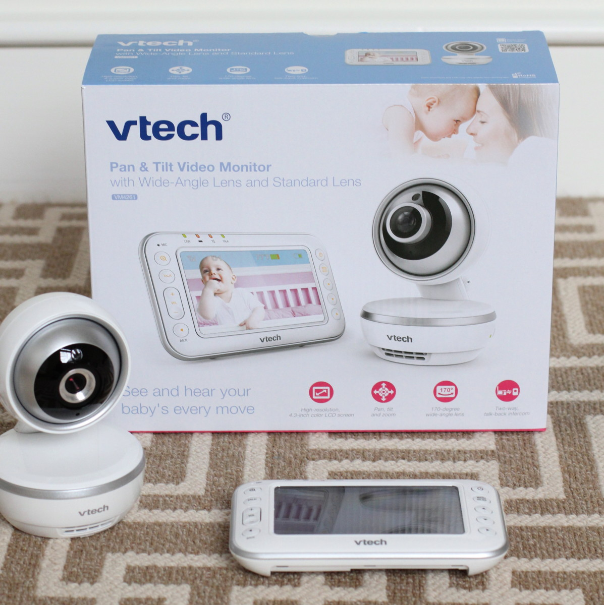 VTech VM4261 Pan & Tilt Video Baby Monitor with Wide- Angle and Standard Lens