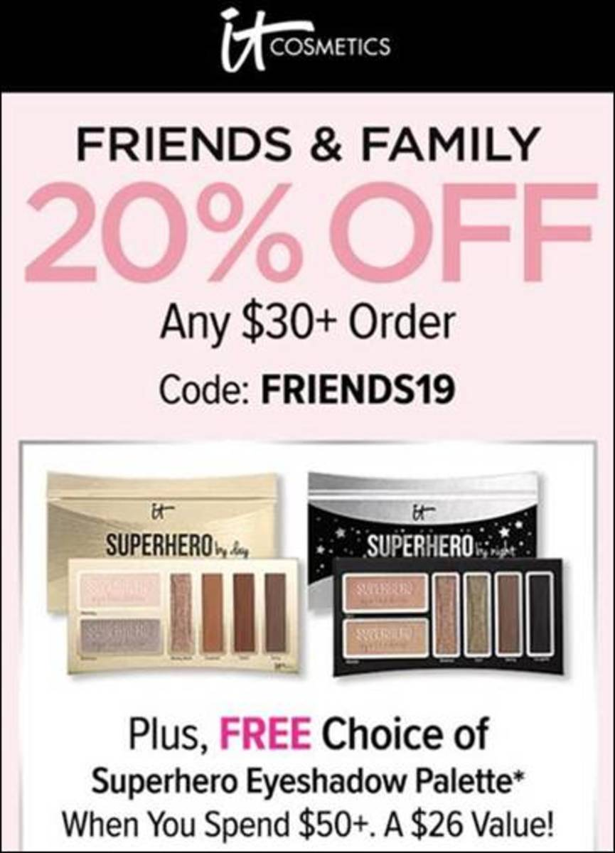 it cosmetics friends and family